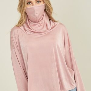 ⭐️ - - Built-in Face Mask Long Sleeve Top